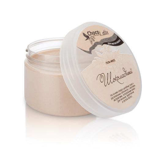Гель-мусс для мытья волос   ШОКОЛАДНЫЙ  мыльные орехи, какао, для питания, укрепления и густоты волос  280ml ChocoLatte